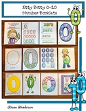 Counting Activities: Itty Bitty 0-10 Number Booklets With 2 Center Activities