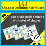 1.G.1 Task Cards: Attributes of Shapes Task Cards 1G1 Centers, Shapes Task Cards