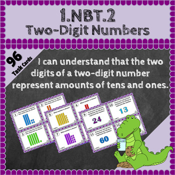 1.NBT.2 Task Cards: Two-Digit Numbers Task Cards, 1NBT2 Centers, 1st Grade Math