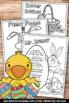 Easter Coloring Pages & Finger Plays, Spring Worksheets