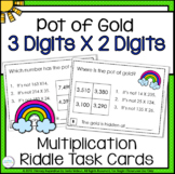 Multiplication Three Digits Times Two Digits Math Riddle Task Cards