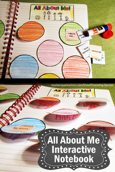 Back to School All About Me Interactive Notebook, Getting to Know You Craftivity