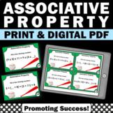 Associative Property of Addition Task Cards 1st Grade Math Indoor Scavenger Hunt
