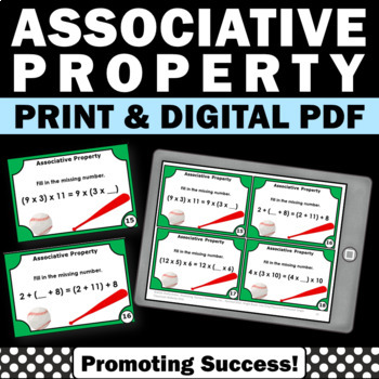 Associative Property of Addition Task Cards 2nd 3rd Grade