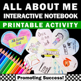 Back to School All About Me Interactive Notebook, Getting to Know You Activities