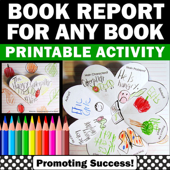 Book Report Template, Story Elements Graphic Organizer Author's Purpose Activity