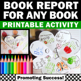 Book Report Template, Book Review Summarizing, Story Elements, Authors Purpose