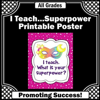 End of the Year Teacher Gifts, Appreciation Week, Classroom Poster Decor