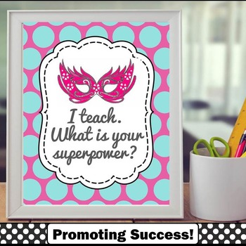 Teacher Appreciation Week Superpower Printable Quote Poste