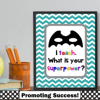 I Teach Whats Your Superpower, End of Year Teacher Gift, Appreciation Week