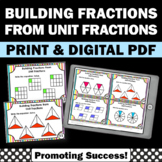 Adding Unit Fractions Task Cards, 4th Grade Math Review