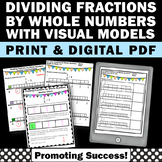 Dividing Unit Fractions by Whole Numbers on a Number Line, Fraction Worksheets