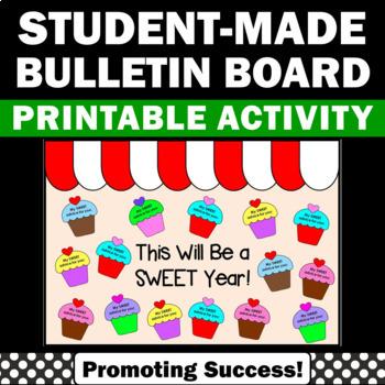 back to school bulletin board cupcake theme decor words of wisdom