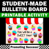 Back to School Bulletin Board Cupcake Theme Decor, Words of Wisdom