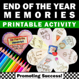 Printable End of Year Memory Book, End of the Year Distanc