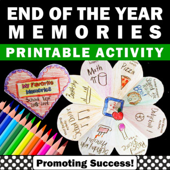 End of the Year Writing Activities Personal Reflection Mem