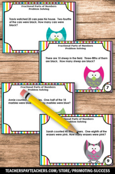 Fraction Word Problems, Multiplying Fractions Task Cards, 4th Grade Math Review