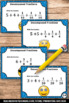 Decomposing Fractions 4th Grade Math Task Cards Games SCOOT