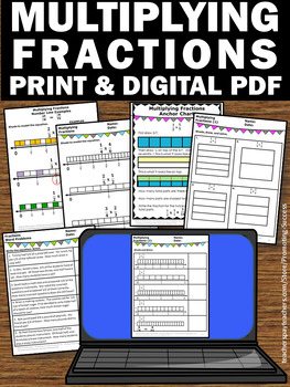Multiplying Fractions on a Number Line & Visual Models, 5th Grade Math Review