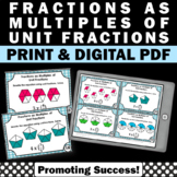 Multiplying Fractions by a Whole Number, Fraction Models, 4th Grade Math Review