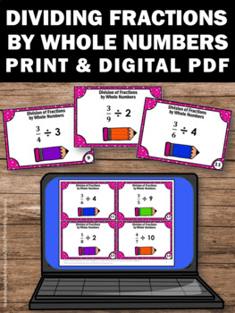 Dividing Fractions by Whole Numbers, 5th Grade Math Review, Fraction Games