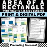 Area of Rectangles, Multiplying Fractions Worksheets, Fraction Multiplication