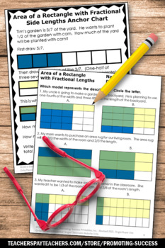 Area Of Rectangles Multiplying Fractions Worksheets