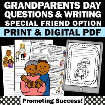 Grandparents Day Activities, Classroom Visit, Grandparents Day Writing
