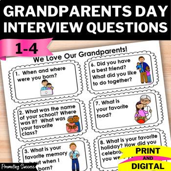 Grandparents Day Activities, Classroom Visit