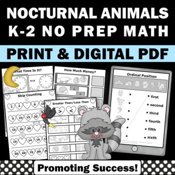 The Kissing Hand Activities, Back to School Kindergarten Math Worksheets No Prep