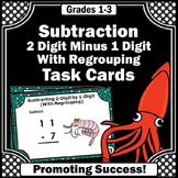 Subtraction with Regrouping Task Cards Common Core 2nd Grade Math Center Games
