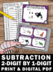 2 Digit Subtraction with Regrouping (and without), 2nd Grade Math Review Game