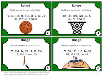 Mean Median Mode Range Activities BUNDLE Measures of Central Tendency Task Cards