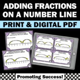 Adding Fractions on a Number Line 4th Grade Math Centers Fraction Games SCOOT