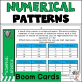 Numerical Patterns | Boom Cards | TEKS 5.4C | Distance Learning