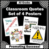 Back to School Classroom Rules Posters 8x10 16x20, Homework Sign