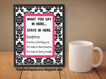 School Counseling Confidentiality Poster Counselor Office Decor Decoration