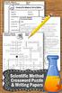 Scientific Method Worksheet, Science Crossword Puzzle & 10 Writing Papers