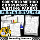 Scientific Method Activity - Science Crossword Puzzle & 10 Writing Papers