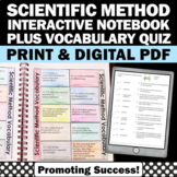 Scientific Method Foldable, Scientific Method Interactive Notebook Activity Quiz