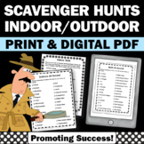 Back to School Scavenger Hunts Indoor and Outdoor Scavenger Hunt Checklists