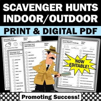 Scavenger Hunt Worksheets for Kids Summer School Activities