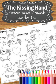 The Kissing Hand Activities Kindergarten Math Centers Counting Coloring Pages