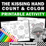 The Kissing Hand Math Worksheets, Kindergarten Counting Numbers 1-10