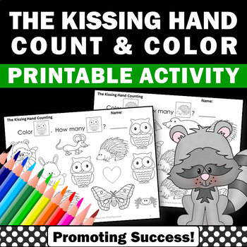 The Kissing Hand Book Counting & Coloring Worksheets Back