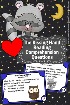The Kissing Hand Activities, 1st Grade Reading Comprehension Task Cards