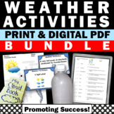 Science Weather Unit BUNDLE, Types of Clouds Activities Interactive Notebook