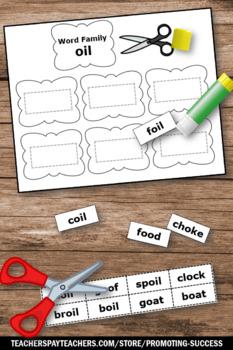 Word Families Worksheets Part II Work Work Activities Phonics Review First Grade