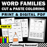 Word Families Worksheets Part IV, Phonics Cut and Paste Activities