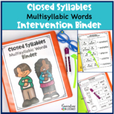 Closed Syllables Decoding Multisyllabic Words Reading Bind